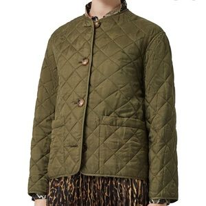 Burberry Bardsey Jaquard Diamond quilted jacket